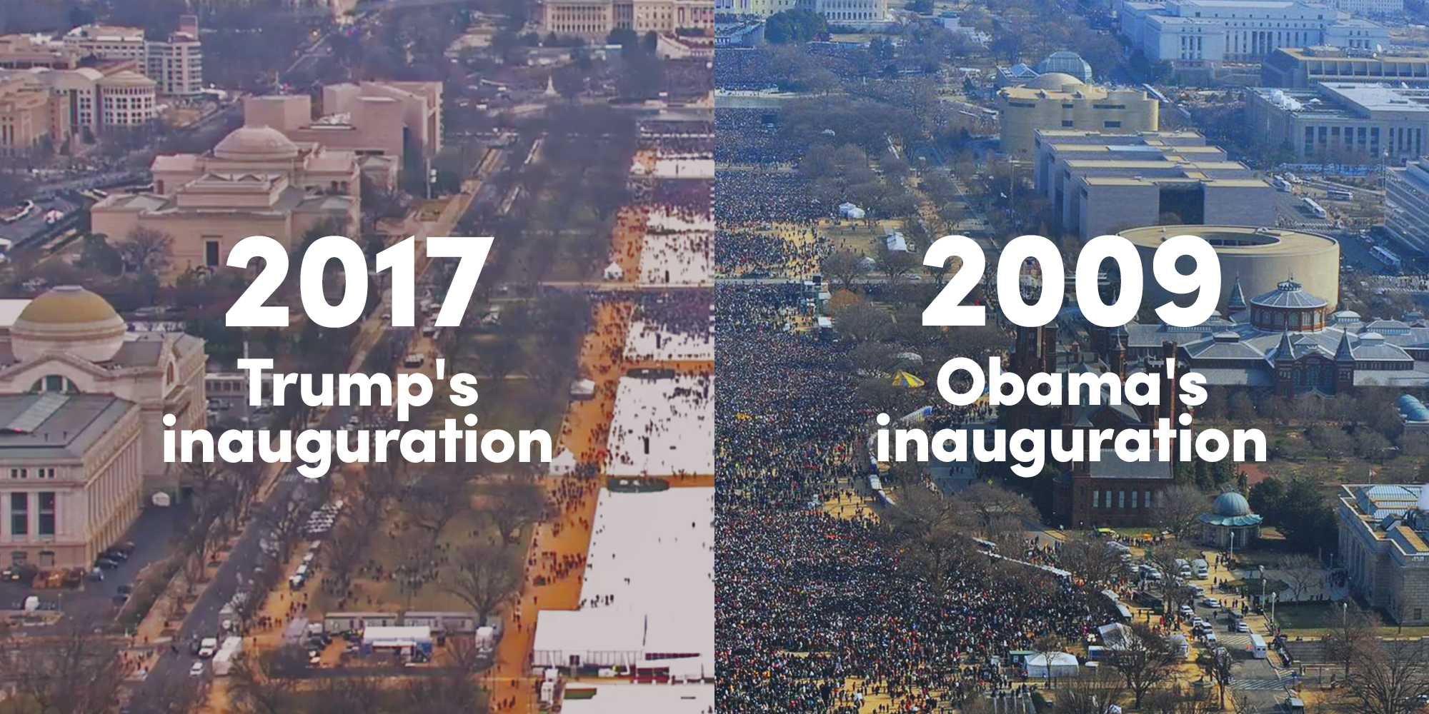 Less people attend trump inauguration than obama