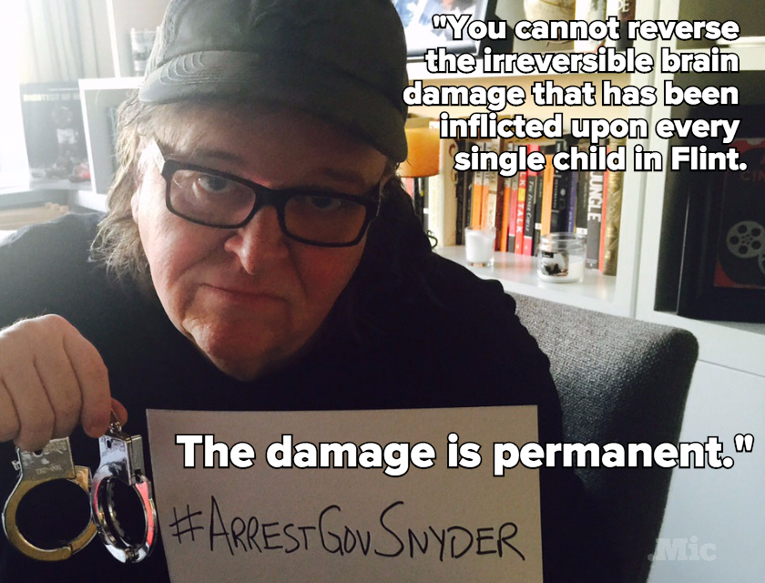'Don't Send Water': Michael Moore Laid Out the Painful Truths About Flint in This Letter