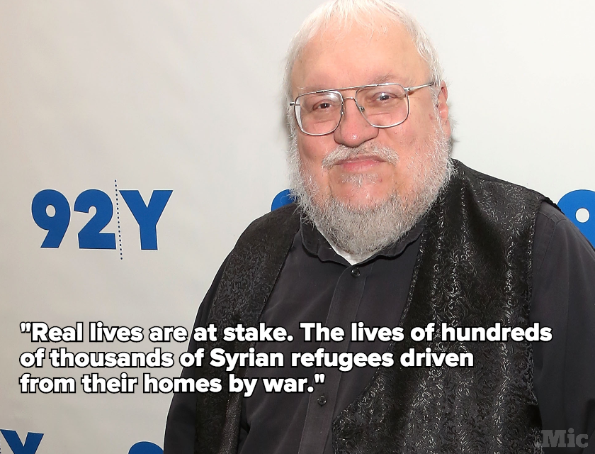 George RR Martin Has a Message for Everyone Who Has a Problem With Syrian Refugees