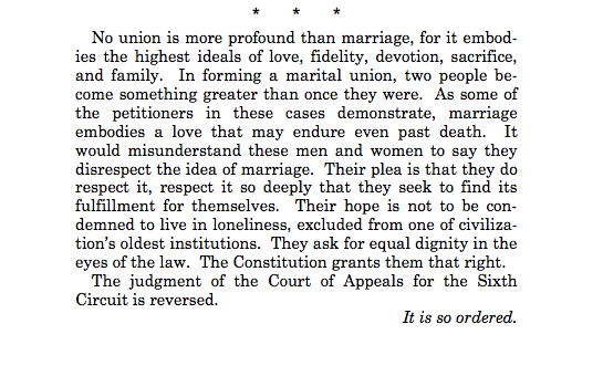 Here's the Most Important Paragraph From the Supreme Court's Same-Sex Marriage Decision