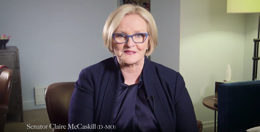 Senator Claire McCaskill Has an Important Message for Men Who Won't Shut Up