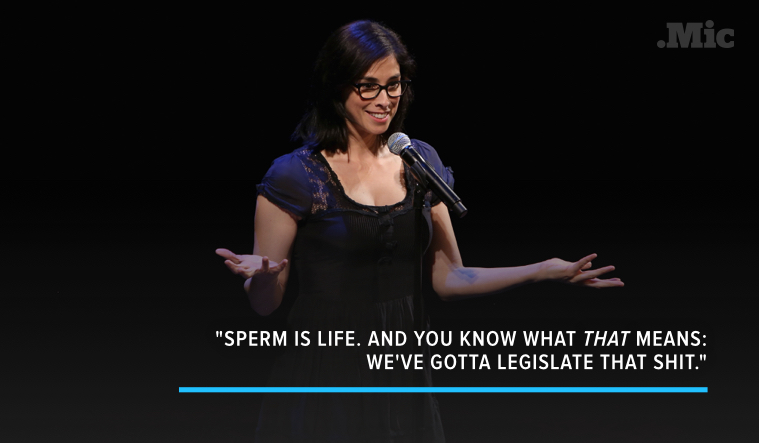 Sarah Silverman Wants to Legislate the Male Orgasm for the Best Possible Reason