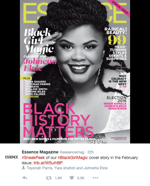 Johnetta Elzie Brings Black Girl Magic to the Cover of Essence Magazine