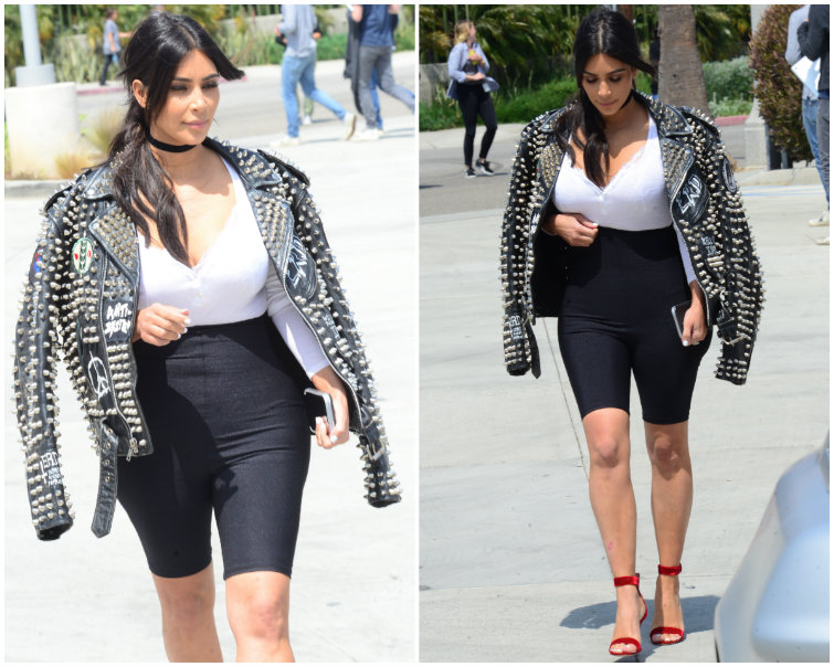 Kim Kardashian West's Biker Shorts Are Fine, Guys