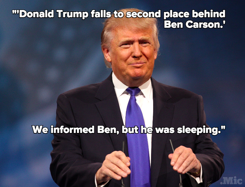 "Donald Trump Mocks Ben Carson's ""Super Low Energy"""