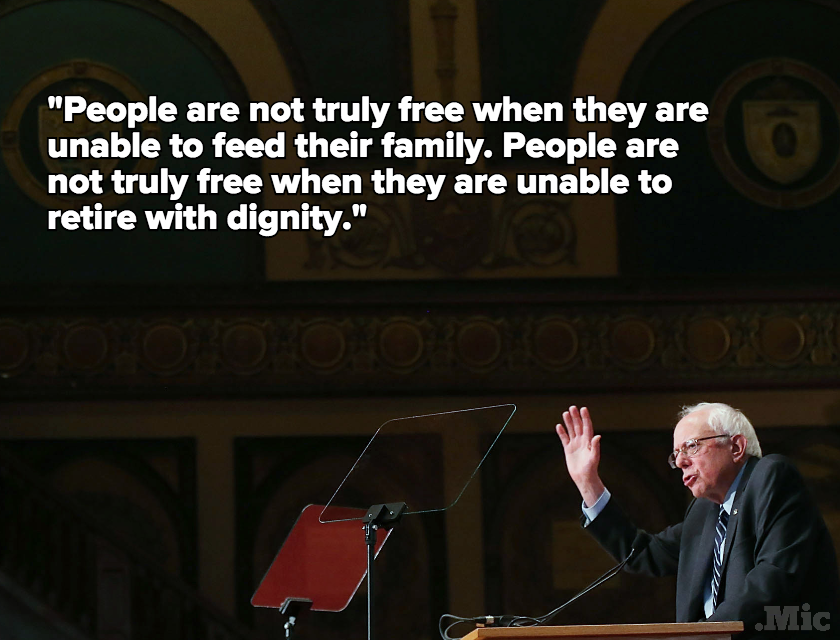 Bernie Sanders Just Gave One of the Defining Speeches of His Career