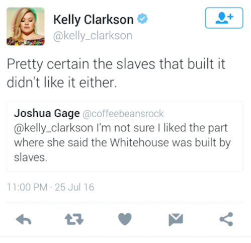 Kelly Clarkson Dragged a Twitter Troll Dissing First Lady Michelle Obama's DNC Speech