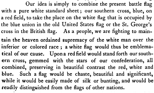 Here's the Racist Meaning of the Confederate Flag, in the Words of the Man Who Designed It