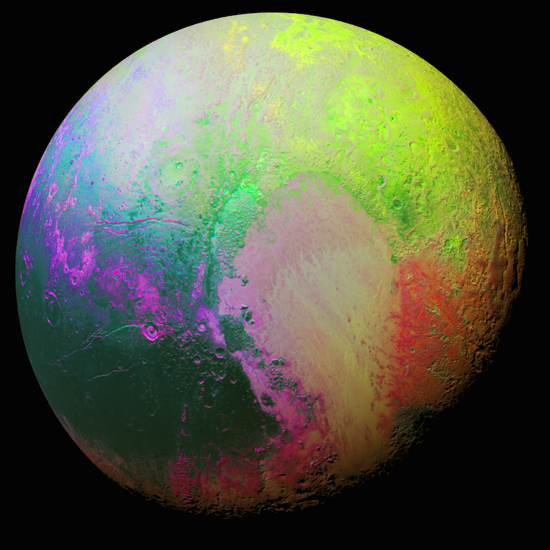 "NASA Releases Never-Before-Seen Image of a ""Psychedelic Pluto"""