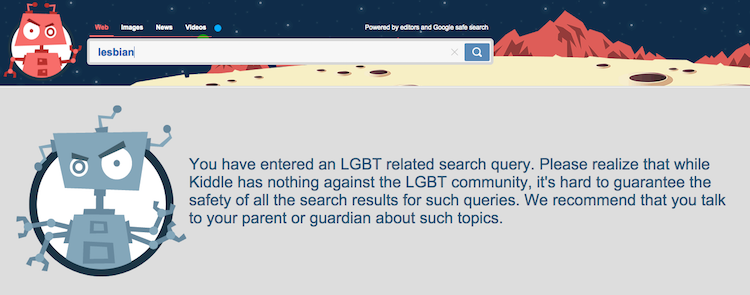 """Kid-Friendly"" Search Engine Blocked Hits for ""Menstruation,"" ""Balls"" and All Things LGBT"