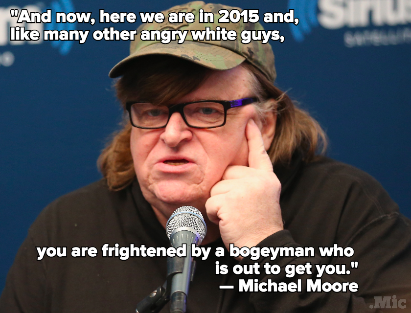Michael Moore Stood in Front of Trump Tower With a Muslim Solidarity Sign