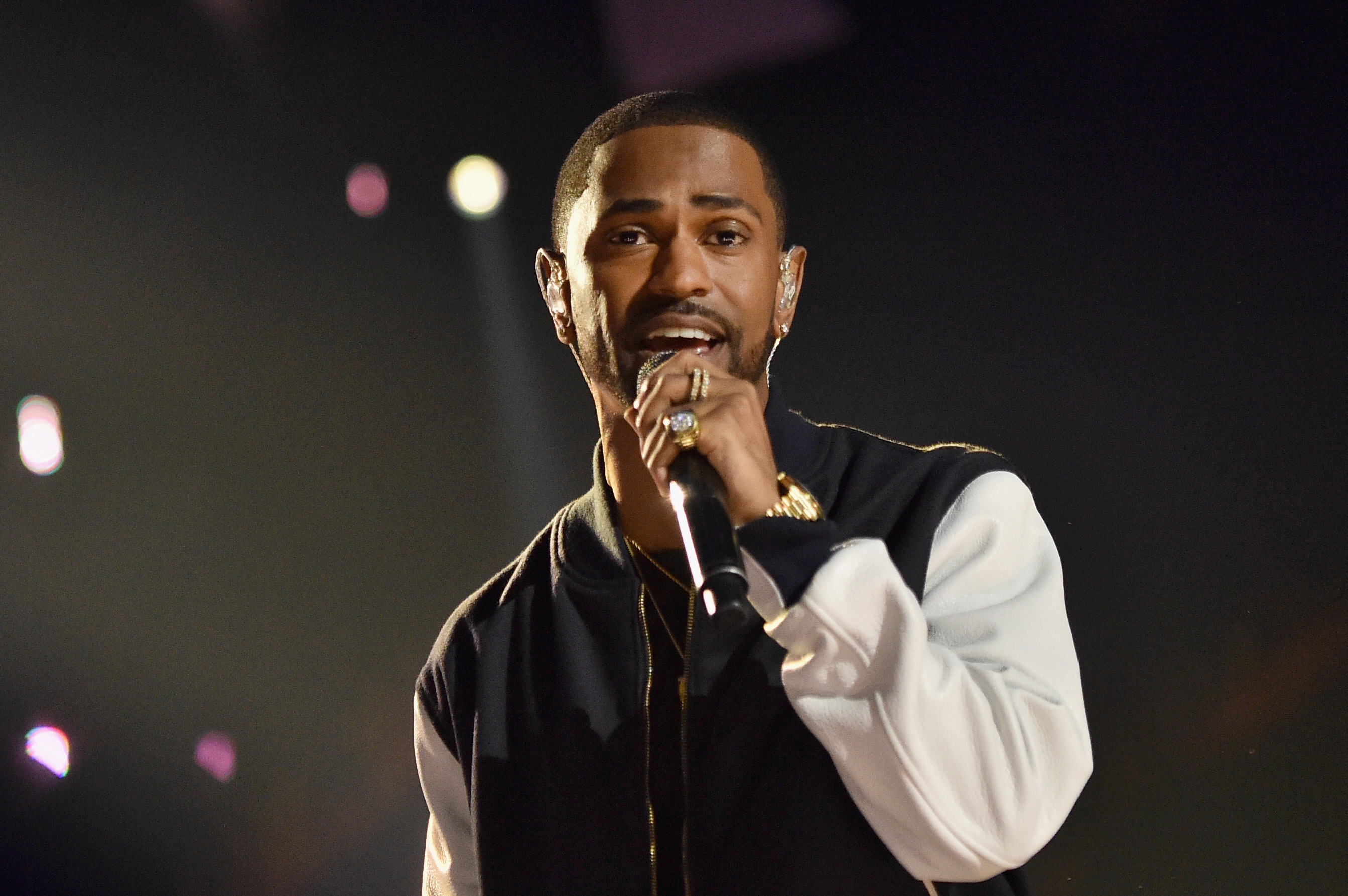 Rapper Big Sean performs onstage at WE Day California      at the Forum on April         in Inglewood  California  Source  Mike Windle Getty Images Mic