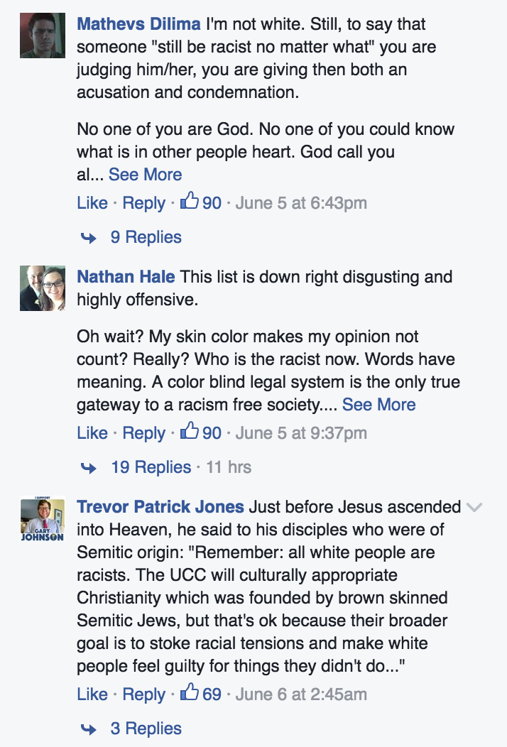 Here's What Happened When a Church Tried Speaking Up About White Privilege on Facebook