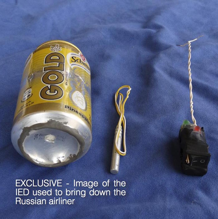 Schweppes Can Bomb: Here's What ISIS Terrorists Say They Used to Bring Down Russian Plane