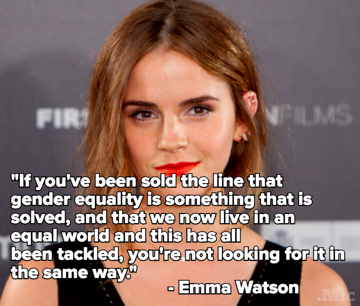 Emma Watson Just Tore Apart Everyone Who Thinks There Is No Gender Gap