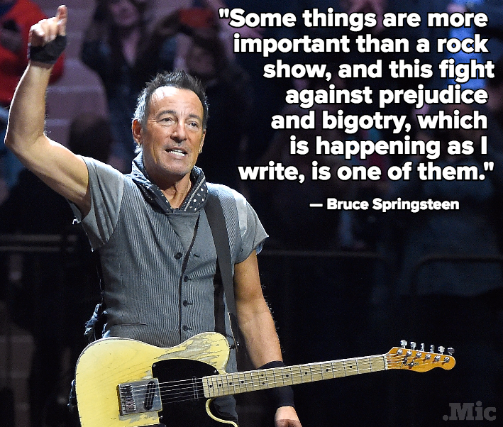 Bruce Springsteen Is Canceling His Show in North Carolina to Protest Anti-LGBT Legislation
