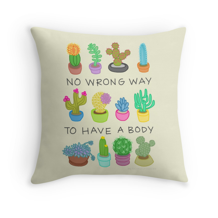 These Are the Awesome Body-Positive Throw Pillows Our Apartments Really Need