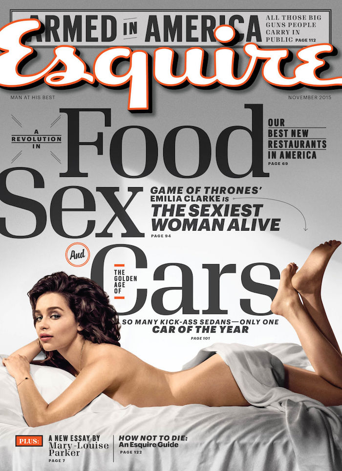 Emilia Clarke Proudly Admits 'That's Me Photoshopped and Drunk' in Her Esquire Shoot