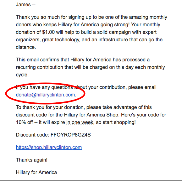 Donald Trump's campaign website won't let some cancel recurring donations