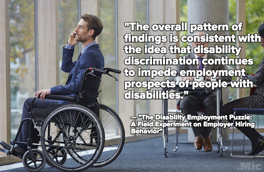 Study Finds People With a Disability Are More Likely to Face Employment Discrimination