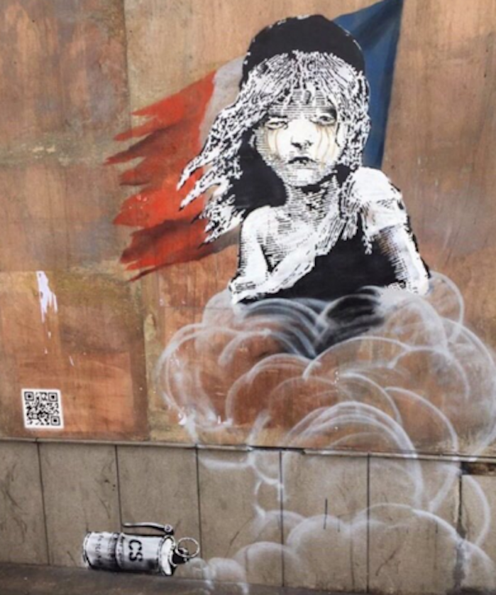 Banksy 'Les Misérables' Art About Calais Refugee Camp Appears on French Embassy in London
