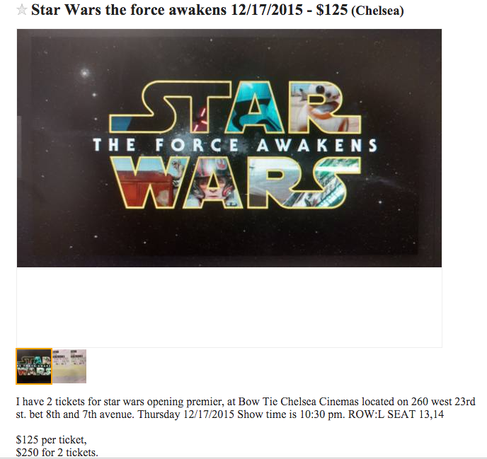 'Star Wars: The Force Awakens' Tickets: Tips for Finding a Theater Opening Night