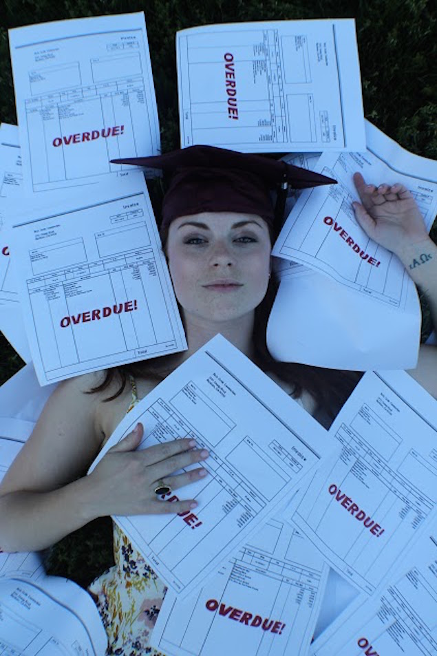 This Theater Major's Graduation Photos Perfectly Capture the Harsh Reality of Student Debt