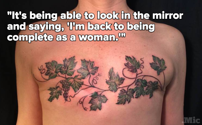 These Are the Artists Empowering Breast Cancer Survivors With Beautiful Tattoos