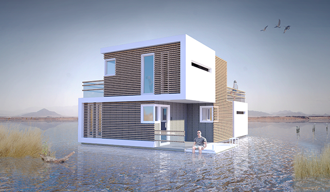 This Awesome Floating House Will Break In Half When Your Relationship Inevitably Fails