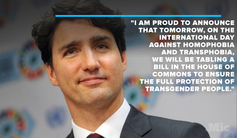 Justin Trudeau Announces Sweeping Transgender Rights Law in Canada