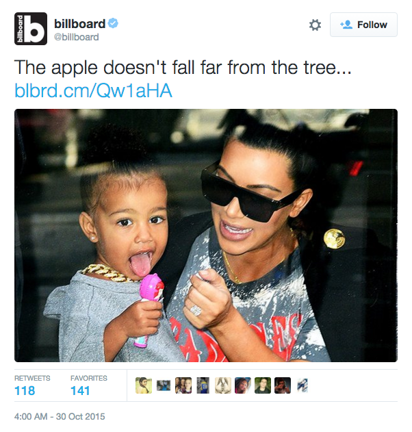 People Are Very Disturbed by This Tweet About Kim Kardashian's Daughter