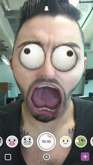 Snapchat Selfie Lenses Are Now Available for Purchase. Here's What They Look Like
