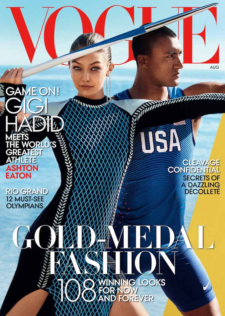 Gigi Hadid Just Landed Her Very First American 'Vogue' Cover — And It's With an Olympian