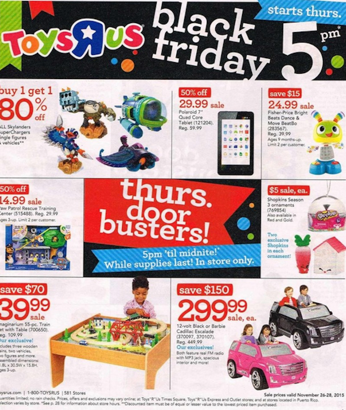 The Latest Black Friday 2015 Sales Ads for Wal-Mart, Target, Toys R Us and More Are Here
