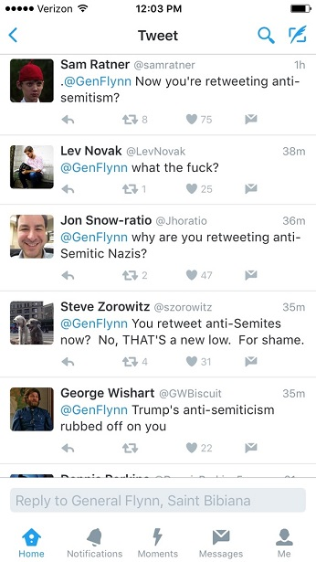 Key Donald Trump Supporter Michael Flynn Retweets Anti-Semitic Account