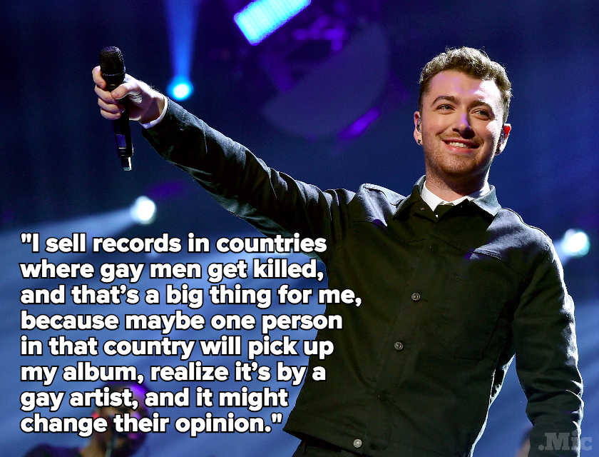 "Sam Smith: ""I Sell Records in Countries Where Gay Men Get Killed"""