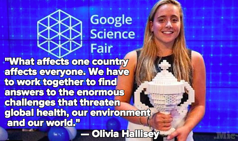 16-Year-Old Olivia Hallisey Won the Google Science Fair by Fighting Ebola