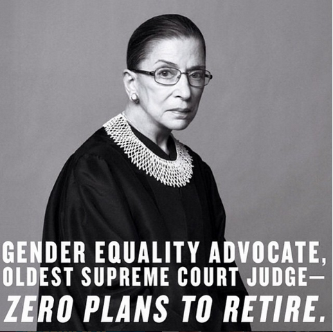How Ruth Bader Ginsburg Became an Icon for Young Feminists
