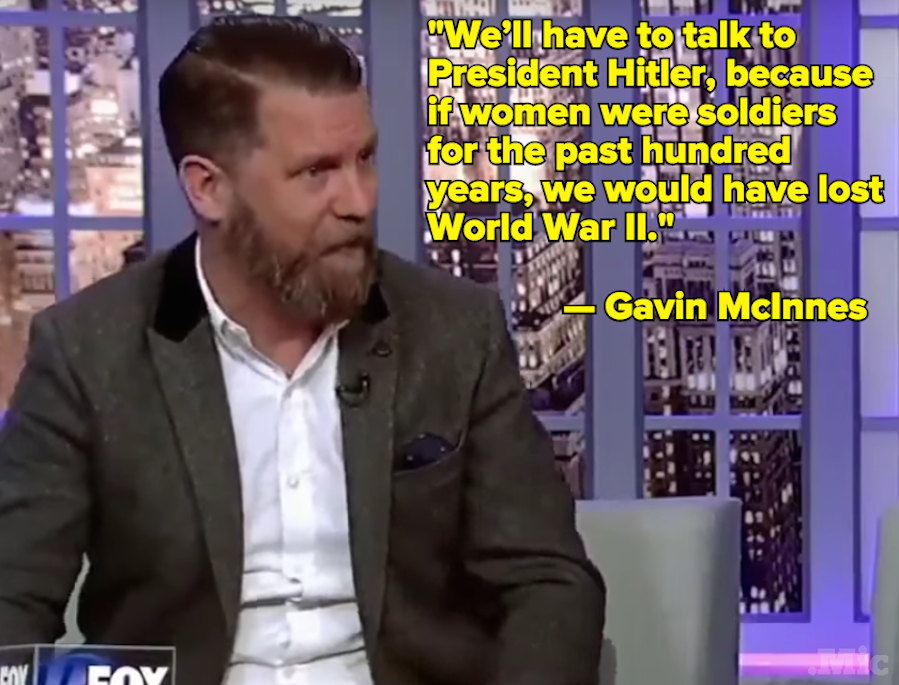 "Fox News Guest Gavin McInnes: Men Are ""More Likely to Get Raped"" Than Women"