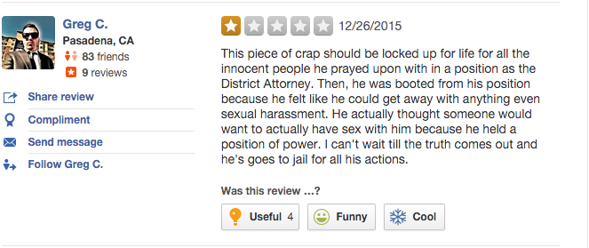 Prosecutor From 'Making a Murderer' Getting Bad Reviews on Yelp