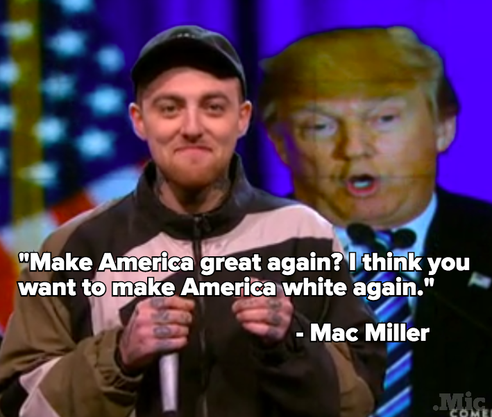 Mac Miller Slams Donald Trump on 'The Nightly Show'