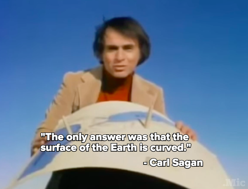 Carl Sagan Schooled BoB on His Flat Earth Theory More Than 30 Years Ago