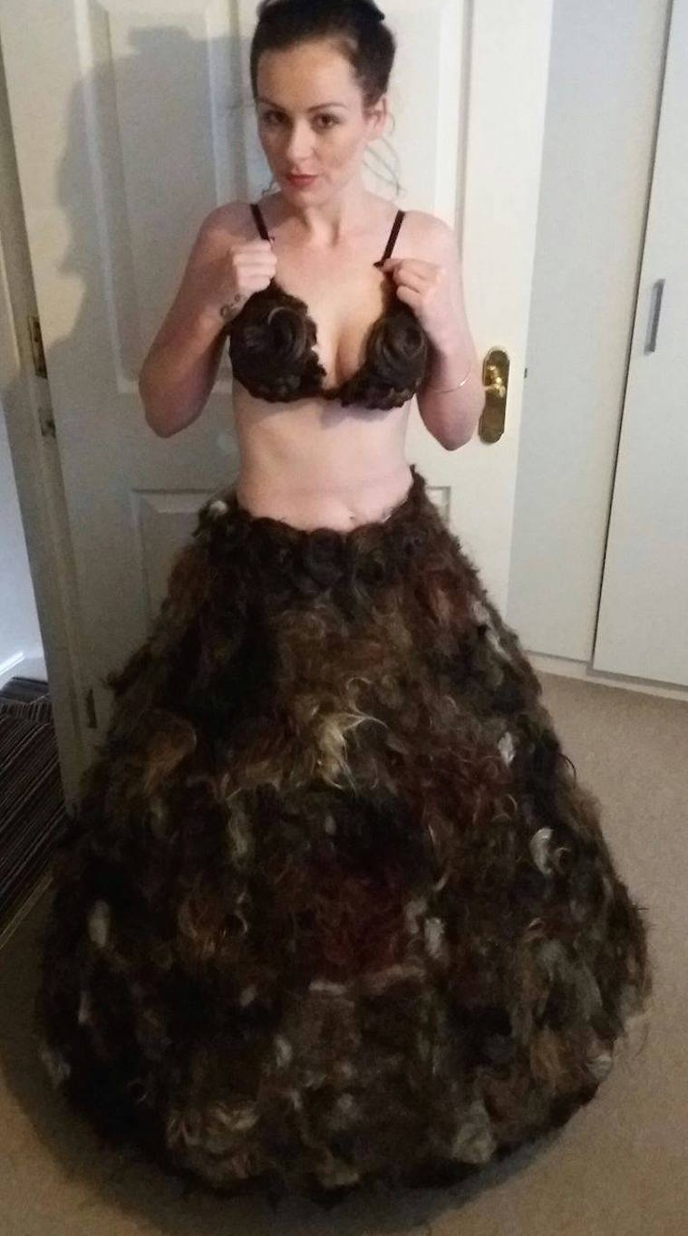 "World's ""Most Disgusting"" Dress Constructed Entirely Out of Pubic Hair Is Finally Revealed"