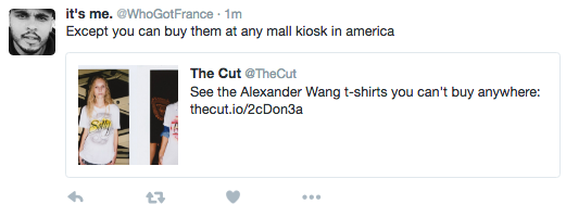"Why Alexander Wang's ""exclusive"" new T-shirts ""you can't buy anywhere"" are bullshit"