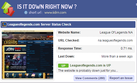 Lol Serverstatus
