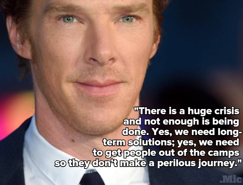 Benedict Cumberbatch Just Stunned Audience With Strong Words on the Refugee Crisis
