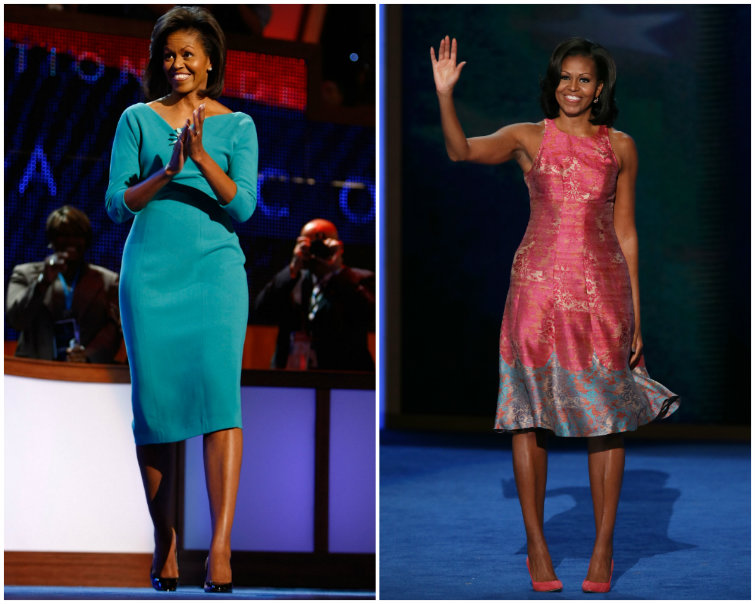 At the Democratic Convention, Michelle Obama's Understated Blue Dress Stole the Show