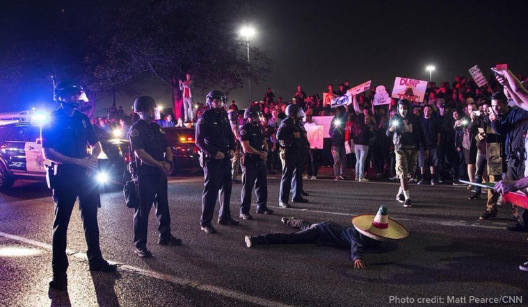 11 Powerful Images Capture the Chaos of Last Night's Trump Protest in California