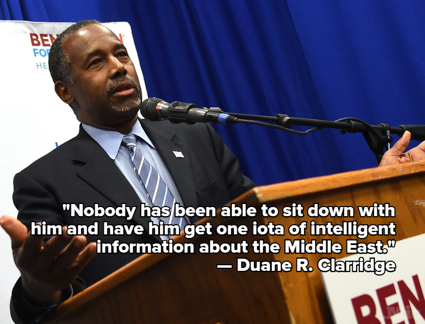 Ben Carson's Own Advisers Admit He Has No Idea What He's Talking About